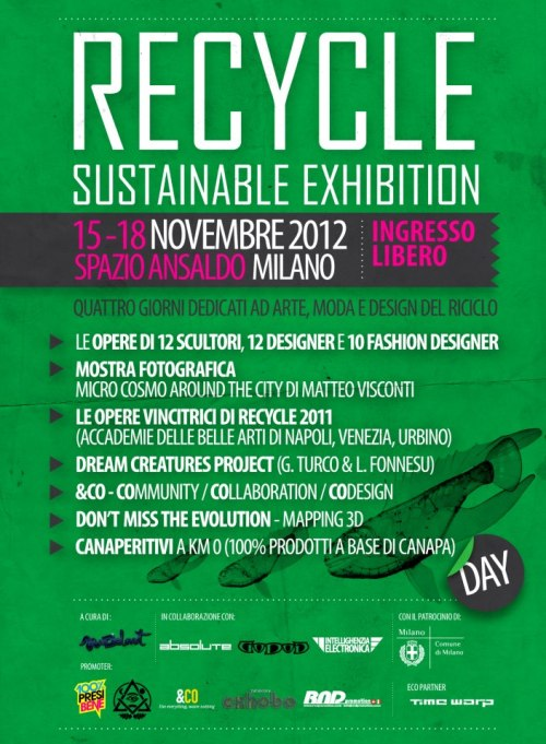 Recycle Sustainable Exhibition 15-18 Novembre